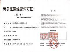 南京晨威船务有限责任公司证照略缩图