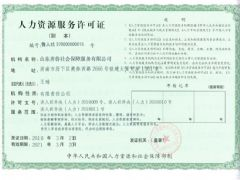 山东齐鲁社会保障服务有限公司证照略缩图