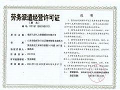 临沂七洋人力资源服务有限公司证照略缩图